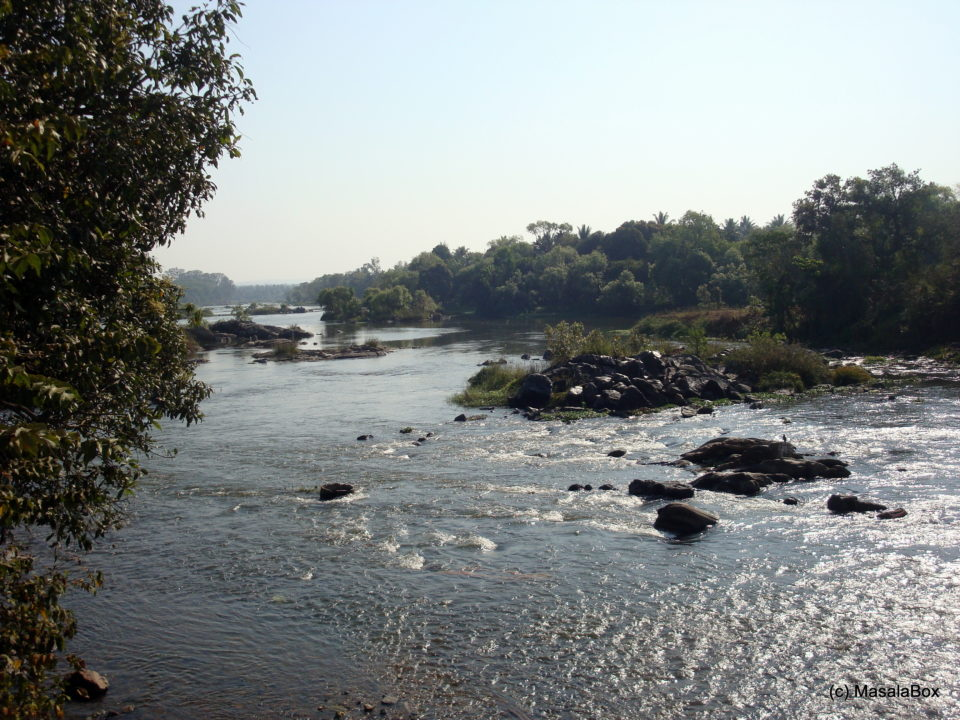 River Cauvery flowing around the town