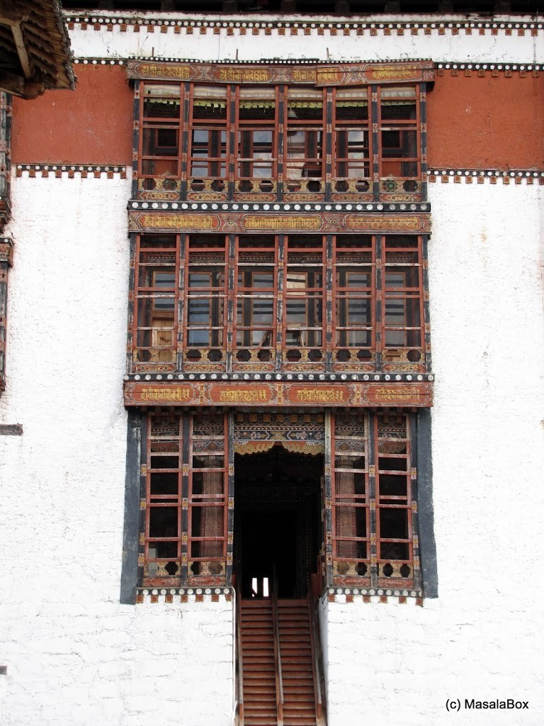 Steep stairs inside Thimphu Dzong