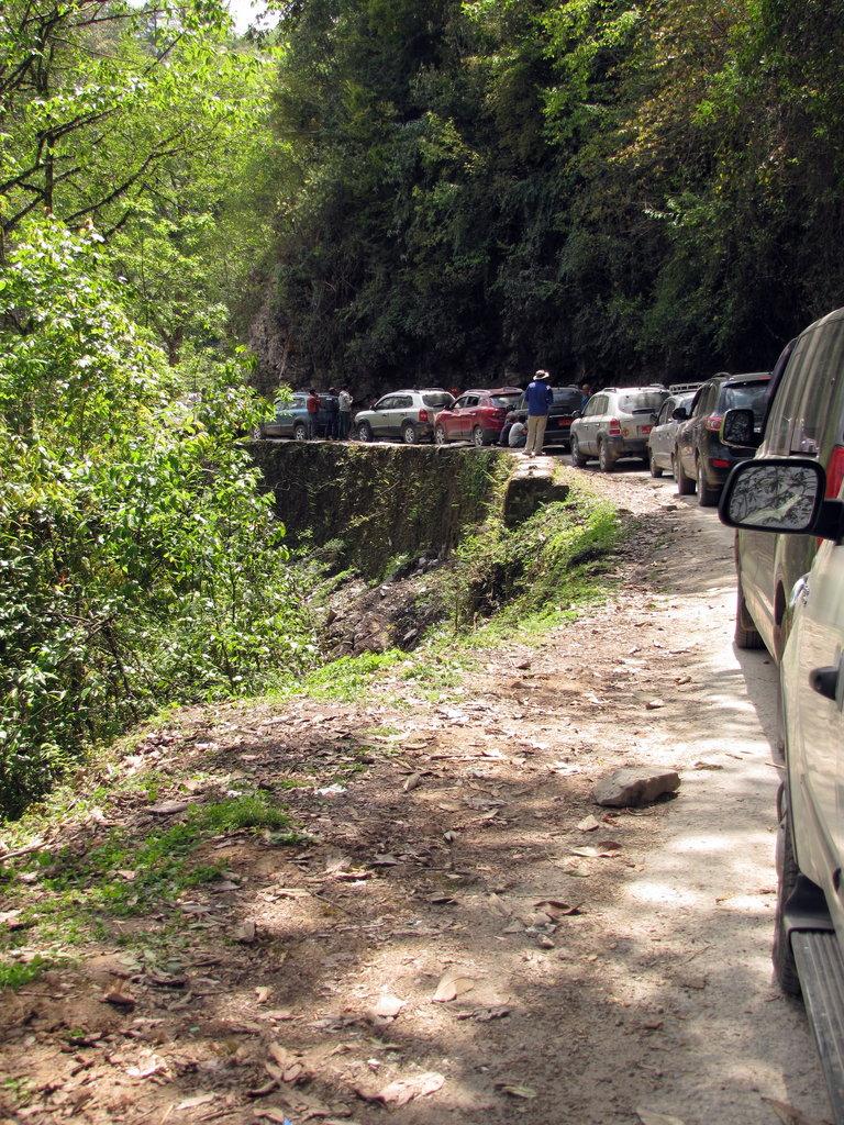 Bhutan roadblock