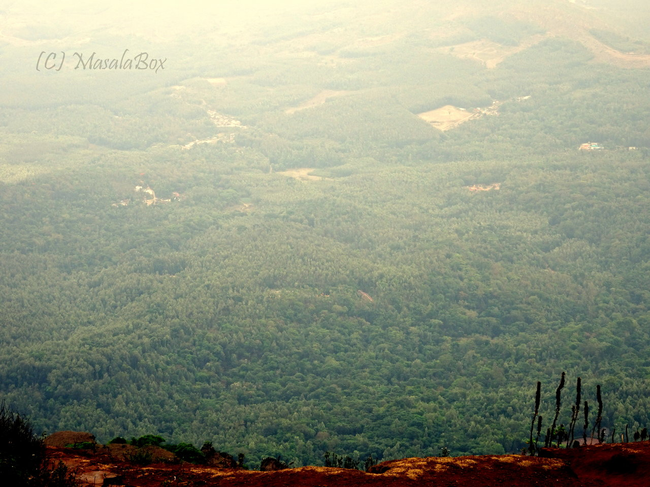 Chikmagalur - Mullayanagiri view from top