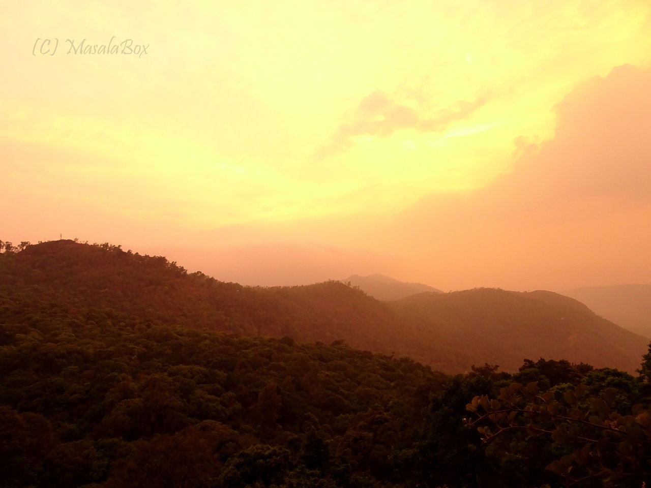 Chikmagalur - Sunset at Kemmanagudi