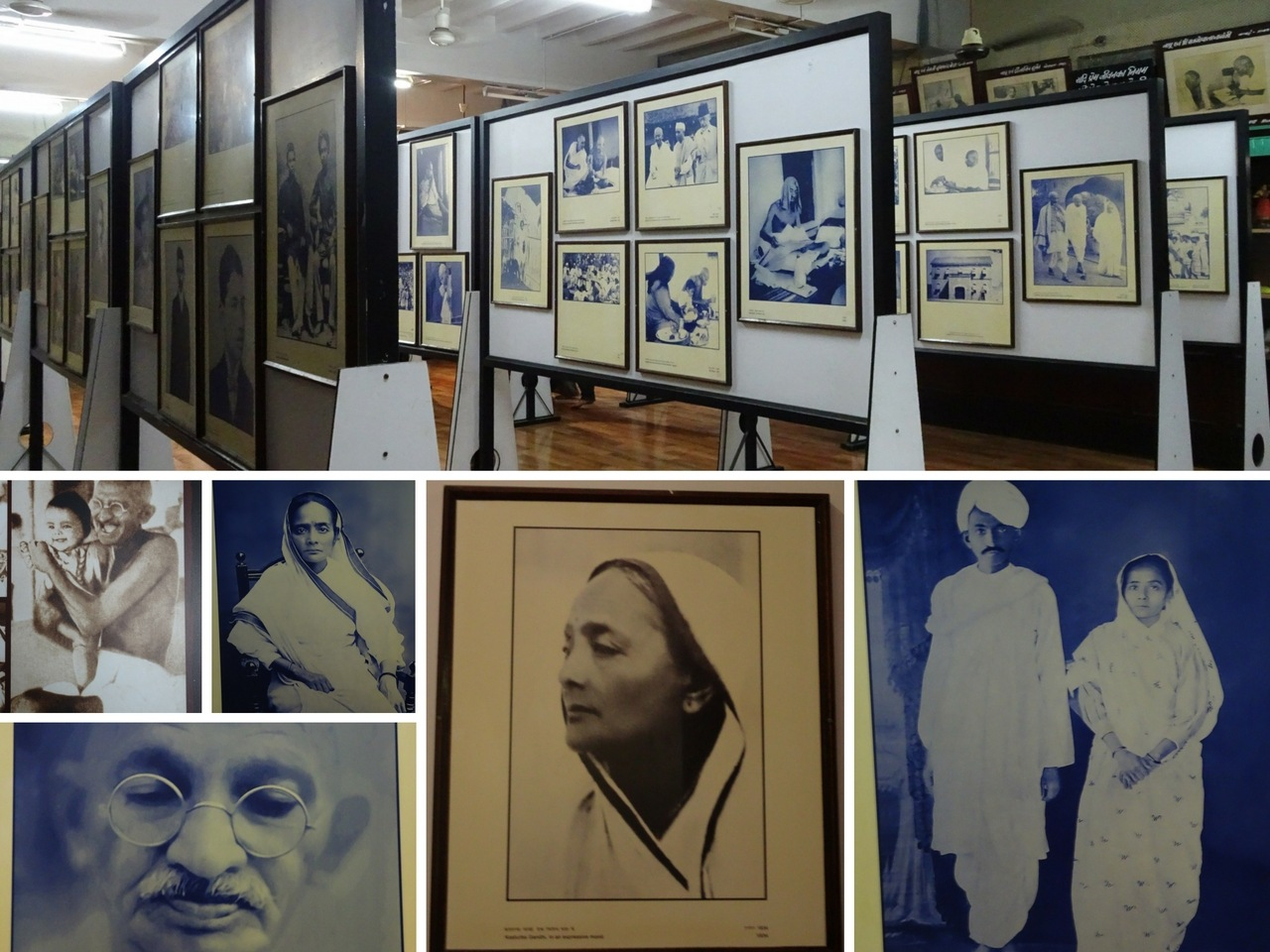 Photos of Mahatma Gandhi & Kasturba Gandhi