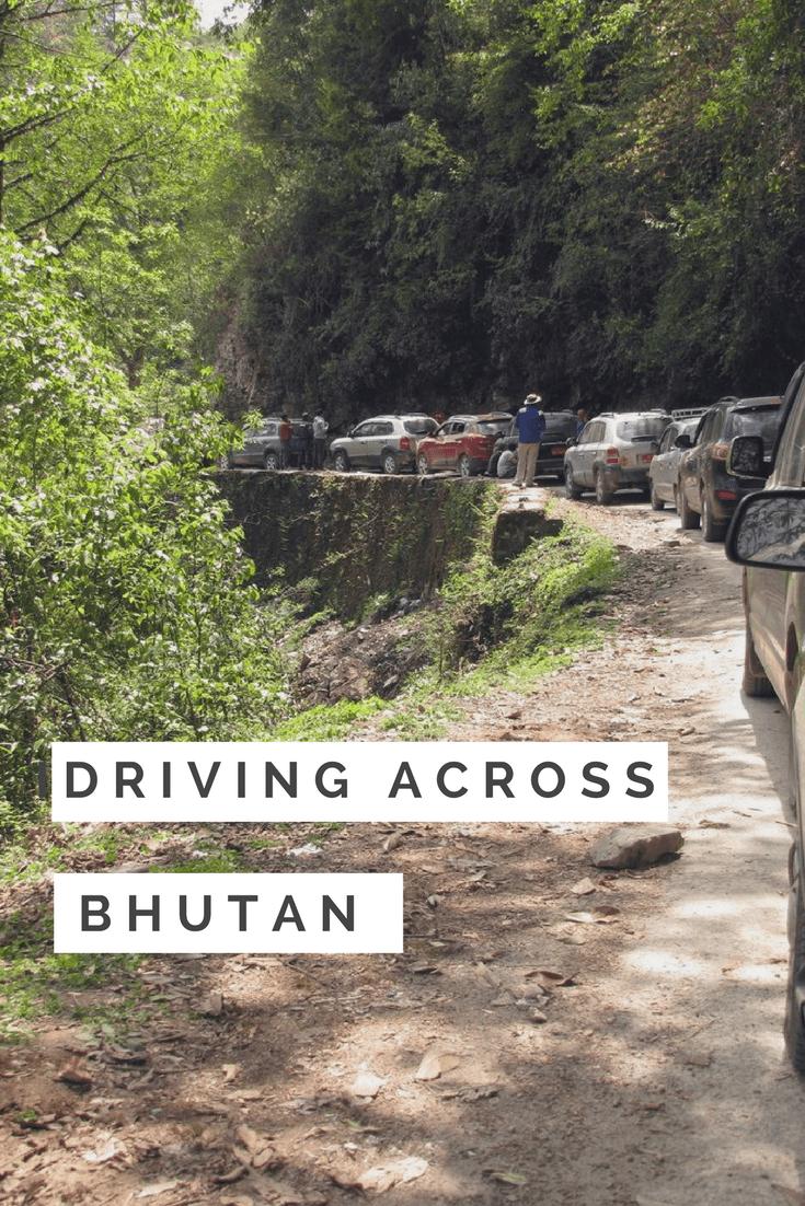 PIN IT - Driving across Bhutan