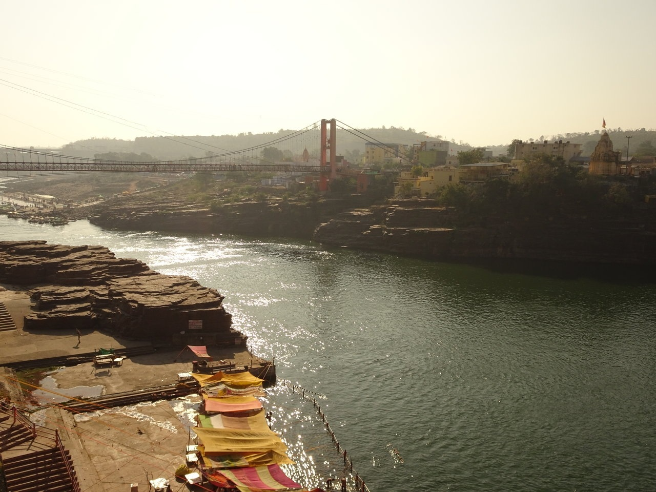 Bridge connecting Omkareshwar island with mainland
