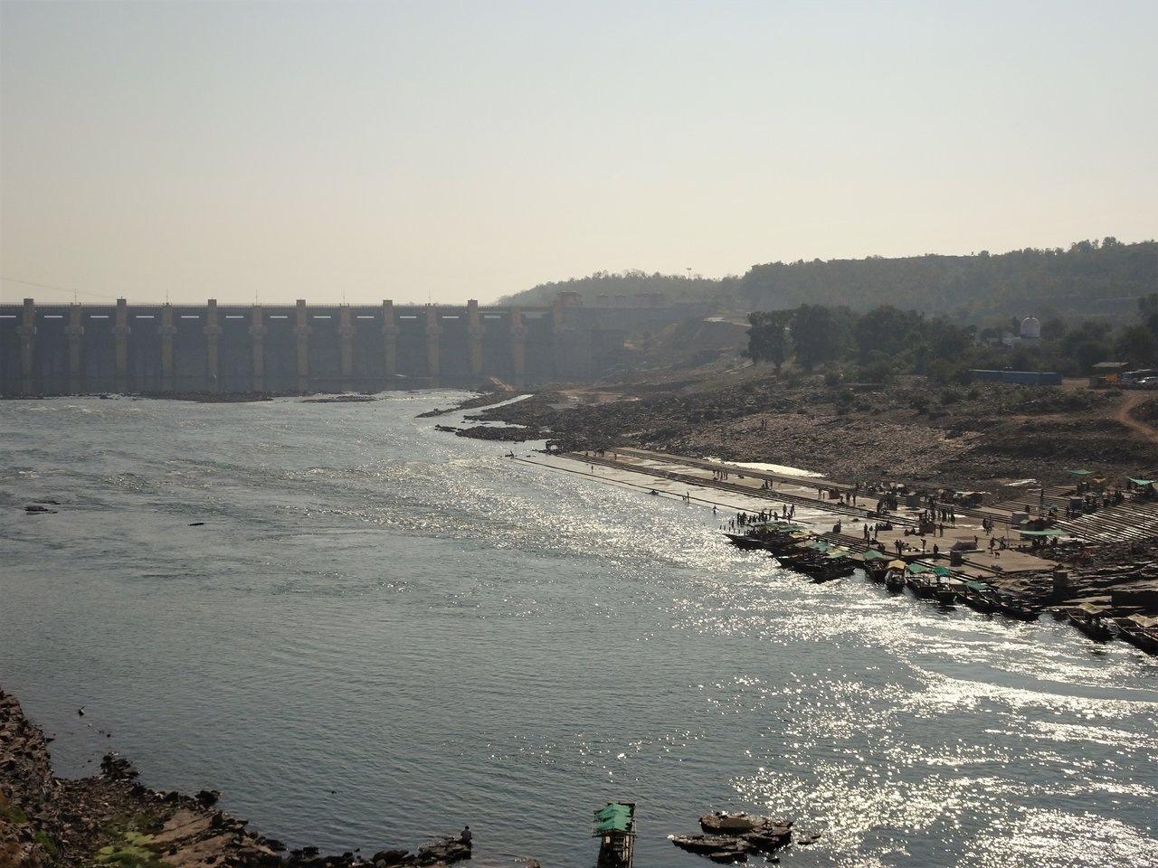 Dam across River Narmada