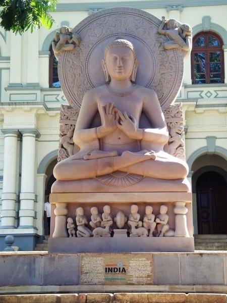 Replica of Buddha statue found at Sarnath