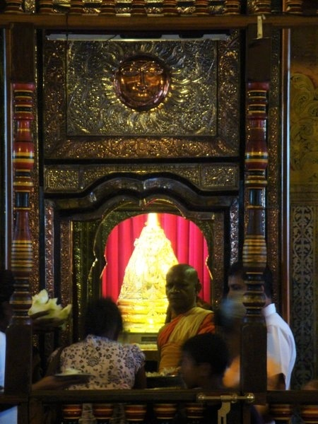 The Golden casket within which the Tooth Relic is preserved