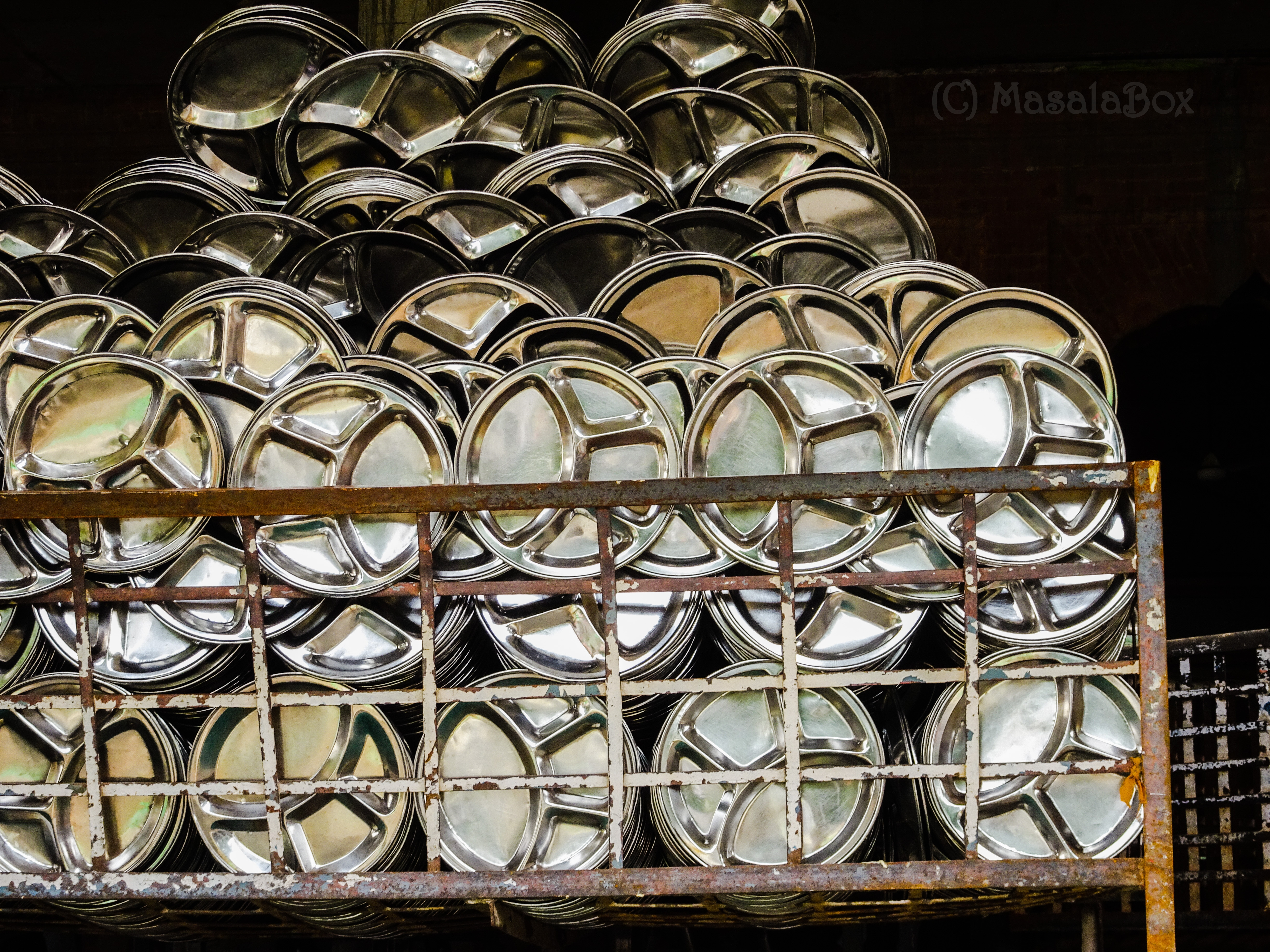 Plates Washed golden temple