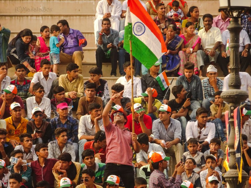 Indian flag wagah border