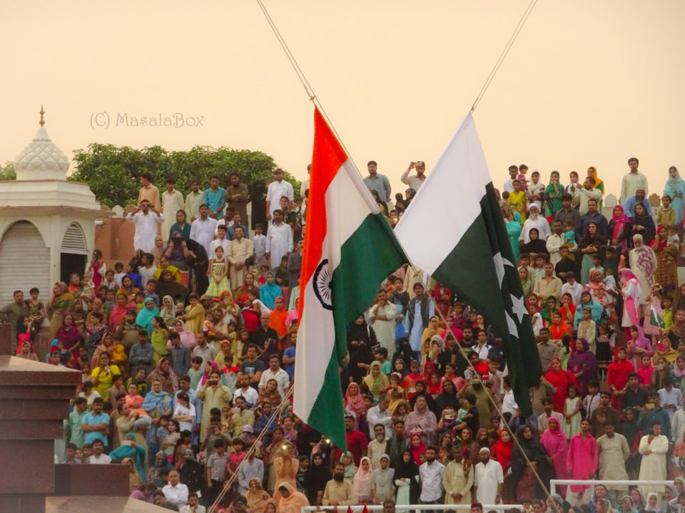 Flags lowered Attari