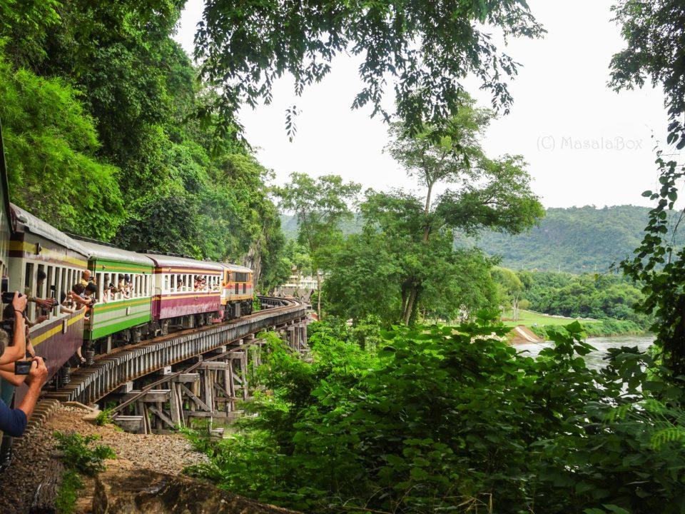 Train over Thom Krasae Bridge