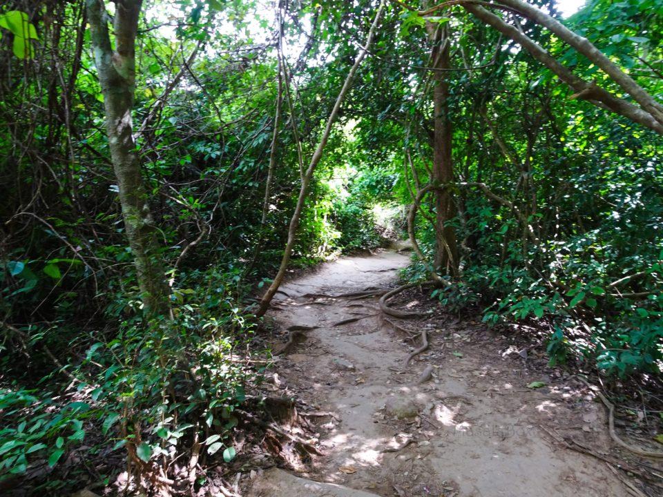 Trek route Erawan falls Erawan National Park