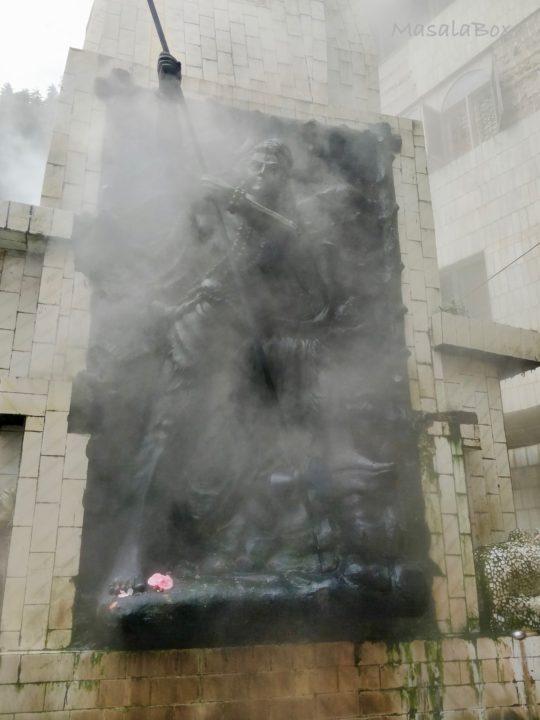 Fumes from hot spring Manikaran