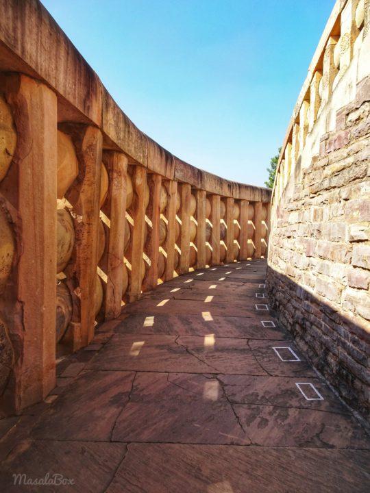Sanchi Stupa stairs