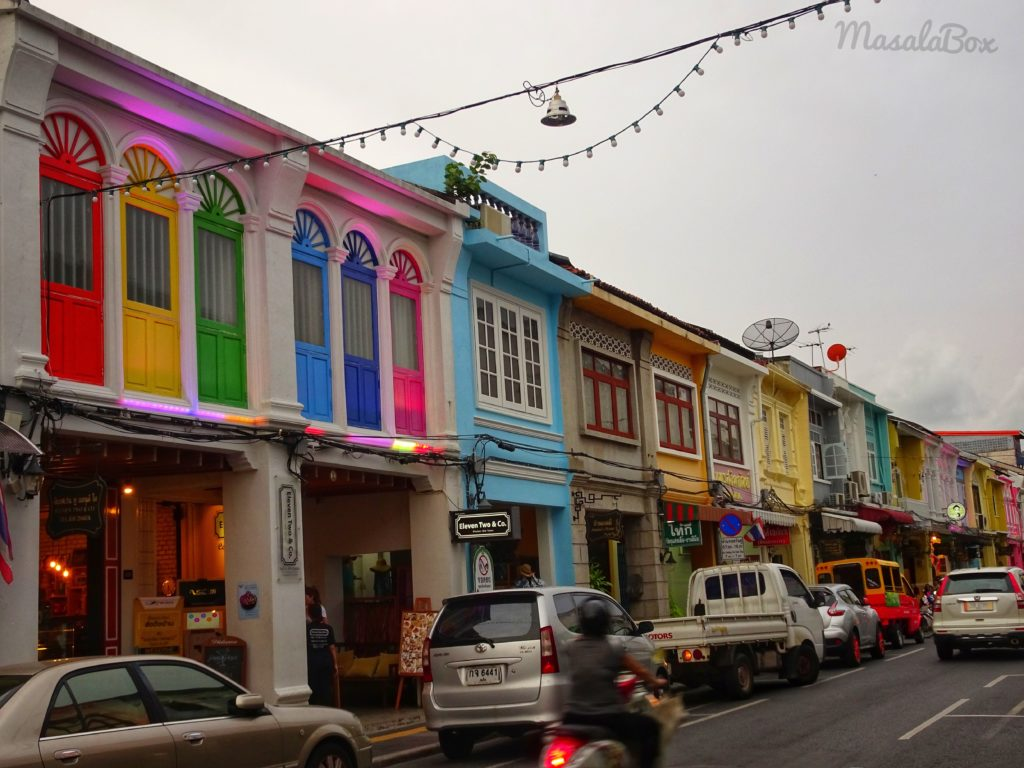 Colourful Talang Road Phuket old town