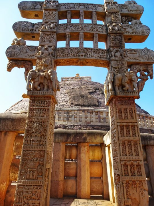 north gateway Sanchi Stupa