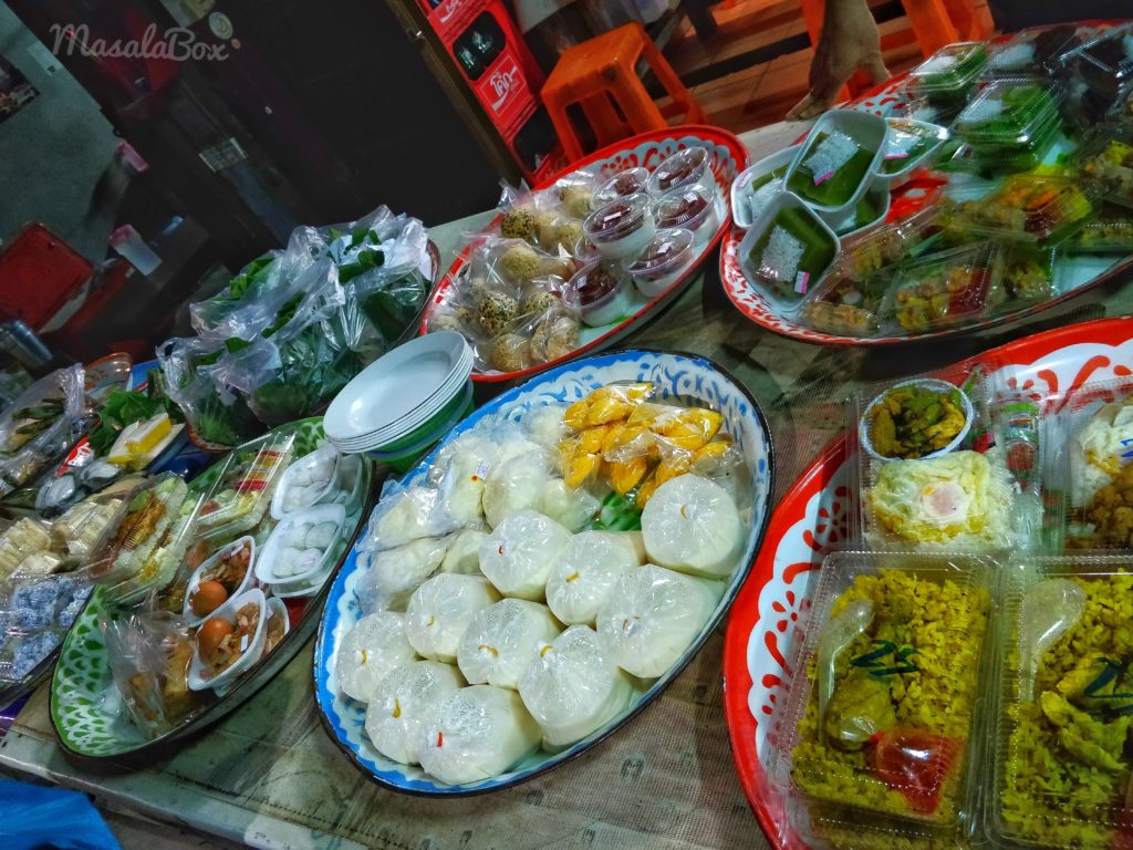 food to give alms to monks