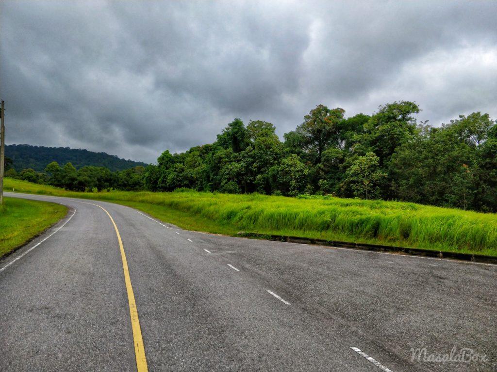 Driving through Khao Yai National Park