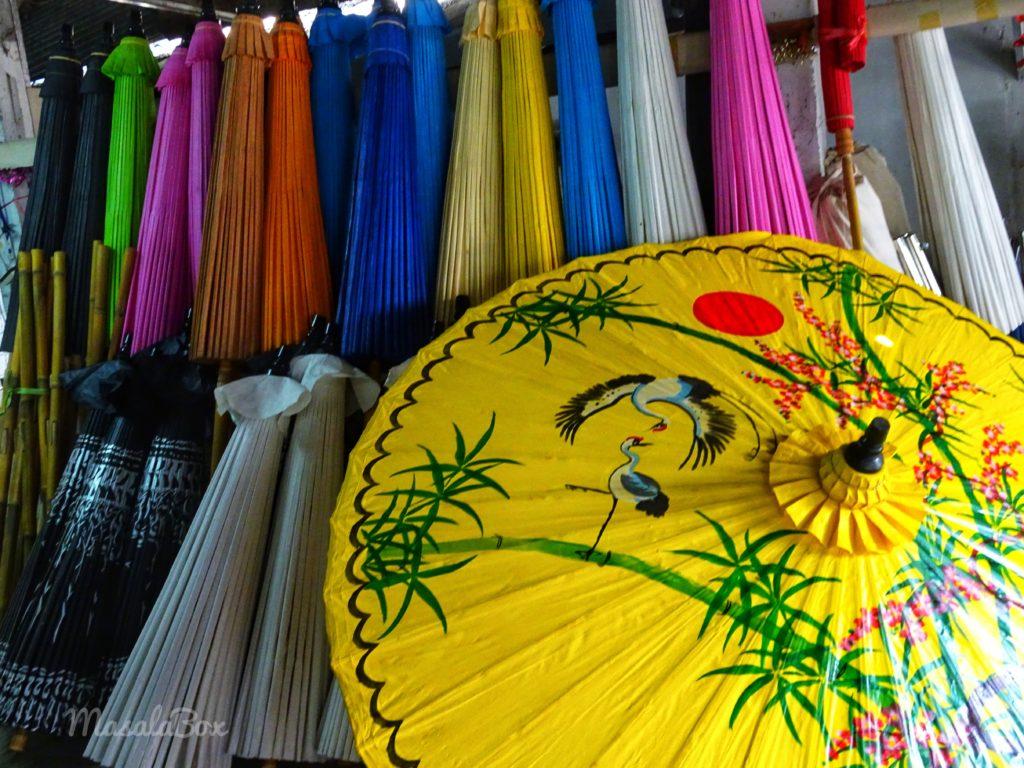 Sankampaeng umbrella village