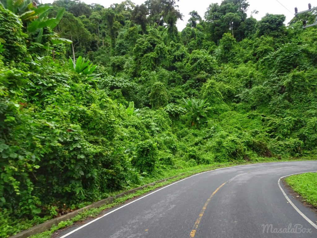 route to khao yai