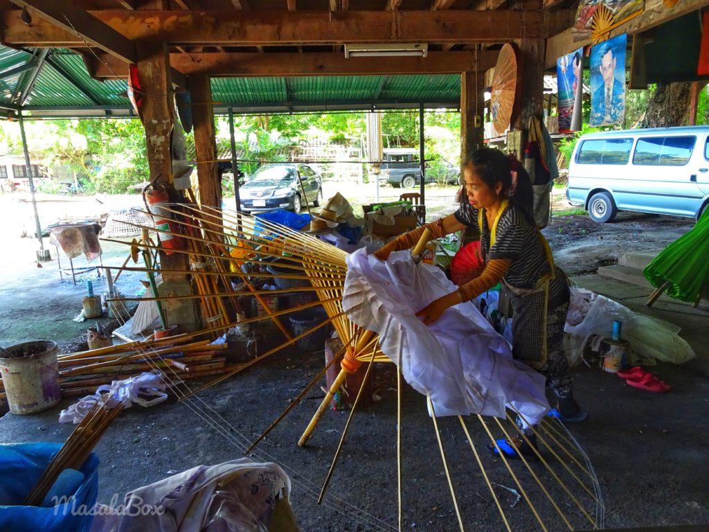 thai umbrella village