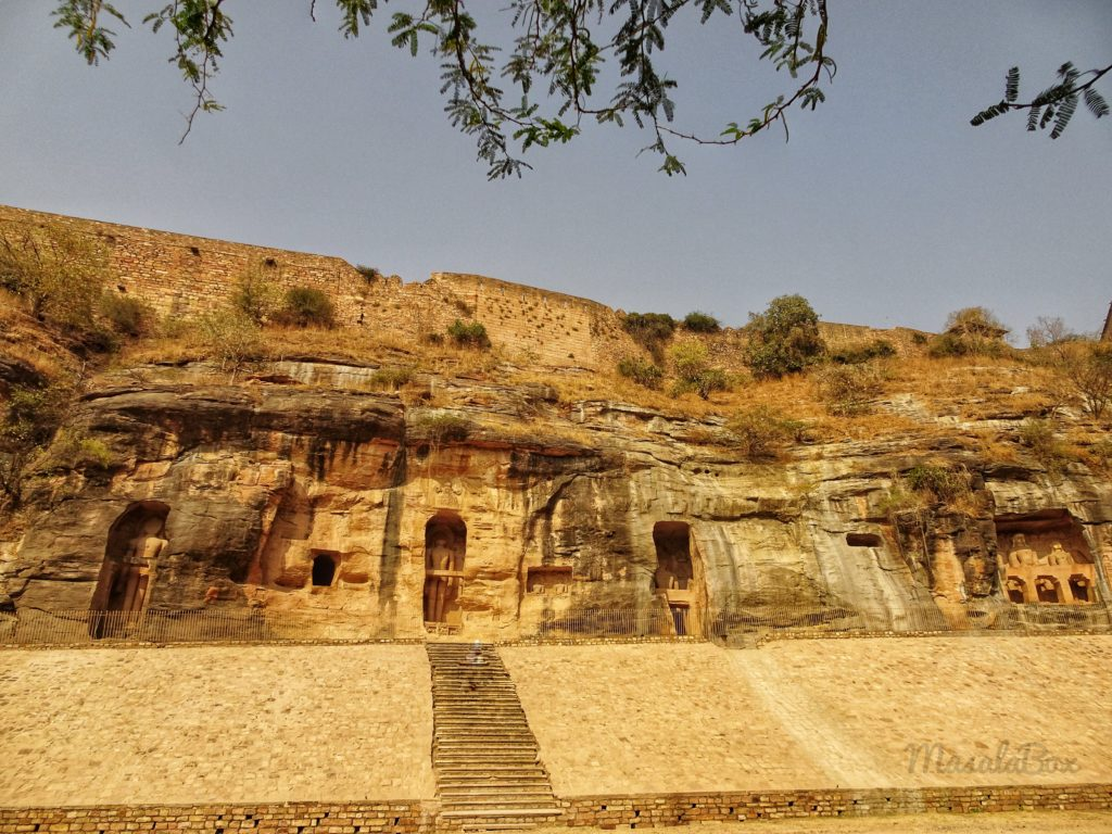 A portion of at Siddhanchal caves Gwalior