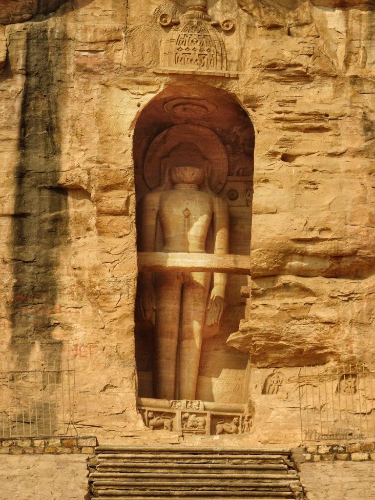 48ft tall Shri Adhinath at Siddhanchal caves