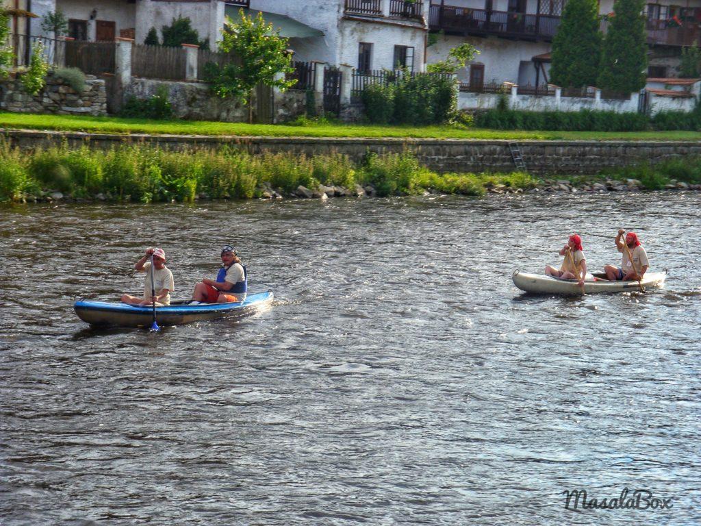 Cesky Krumlov canoeing