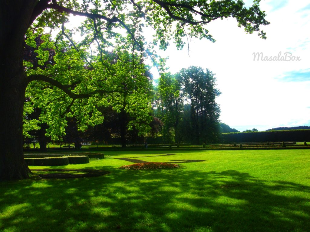 Cesky Krumlov princely garden
