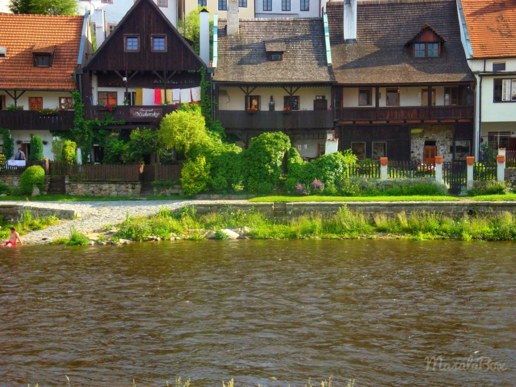 Houses by the Vltava river