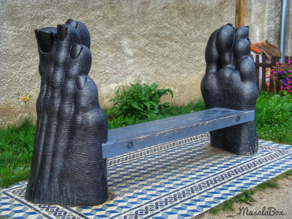 quirky bench Cesky Krumlov