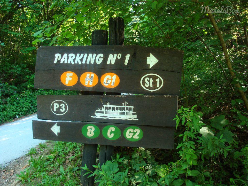 signboards plitvice