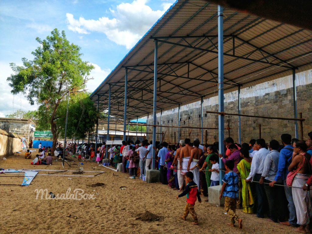 Kanchipuram queue