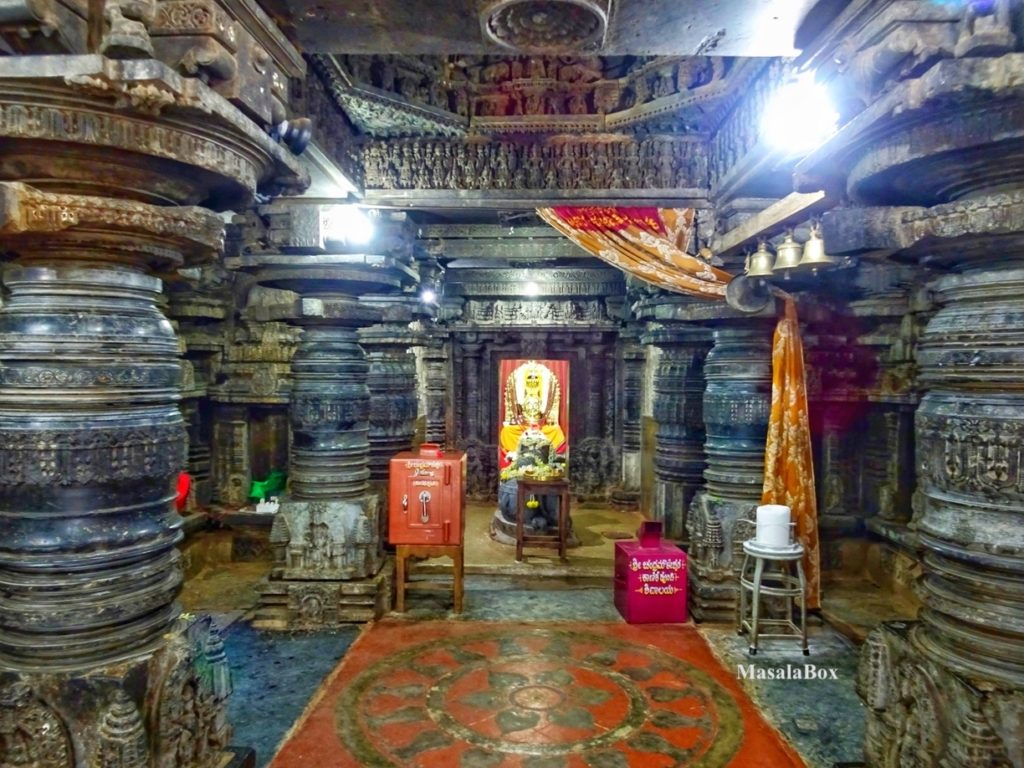 Inside of Hoysala temple