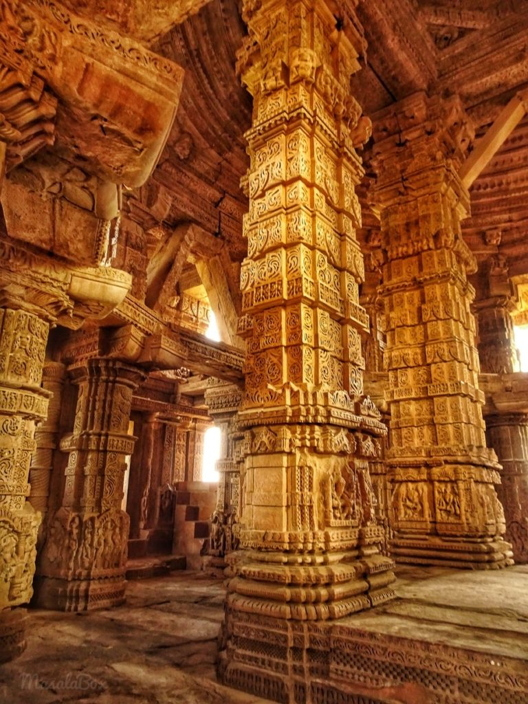 etching on pillars gwalior