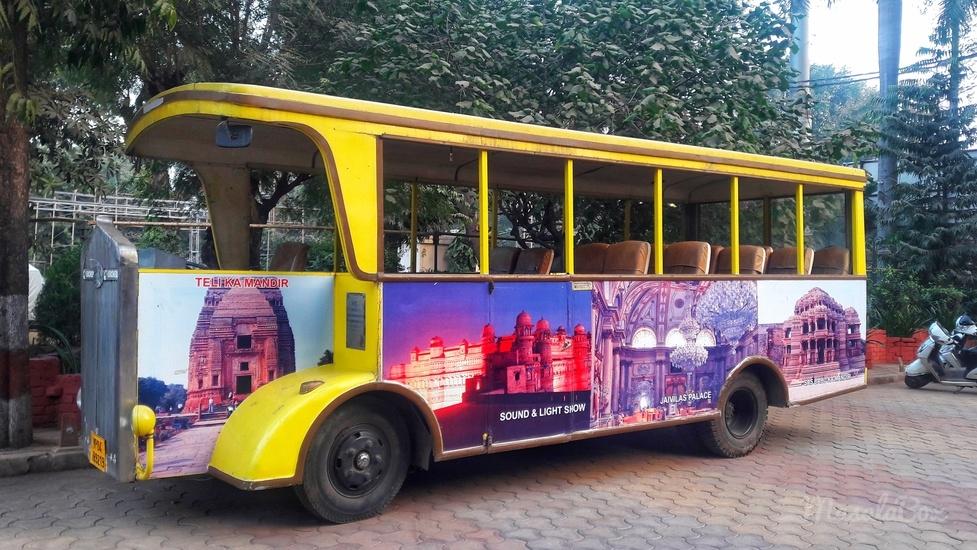 gwalior darshan hop on bus