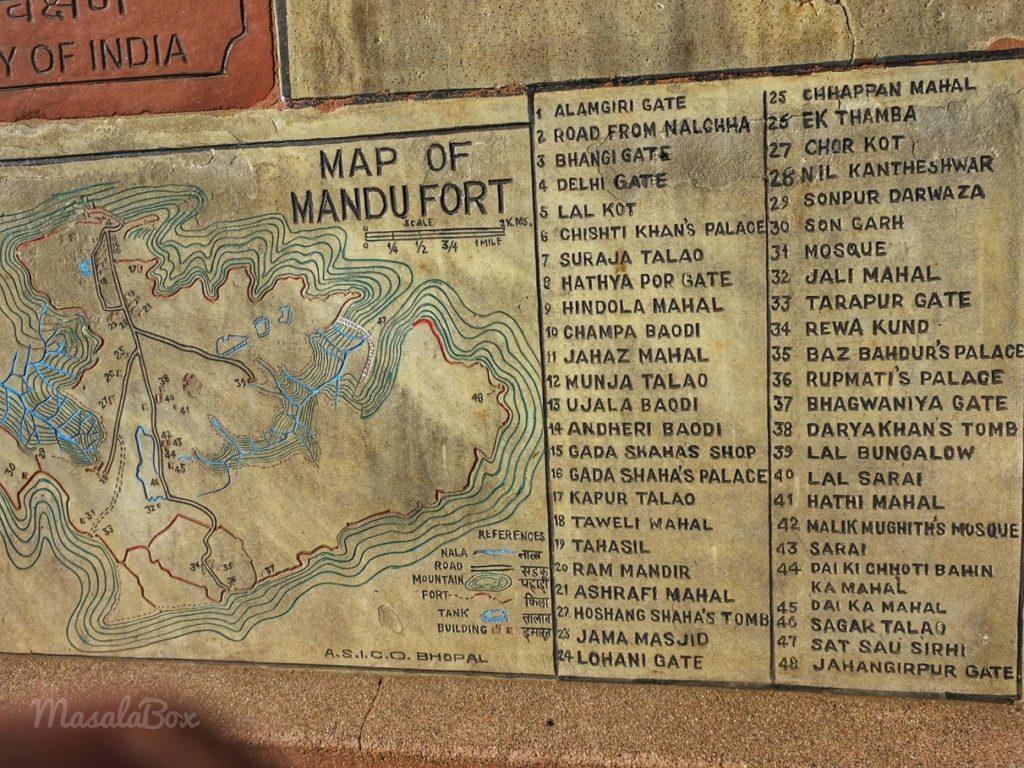 mandu fort map